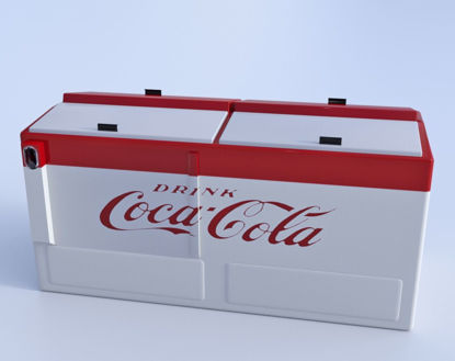 Picture of Antique Cola Cooler Model Poser Format