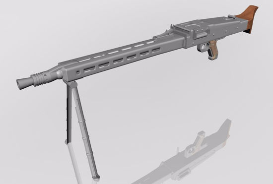 Picture of MG42 Mauser Rifle Model FBX Format