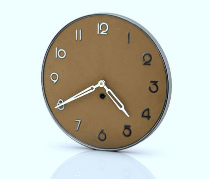 Picture of Art Deco Wall Clock Model Poser Format