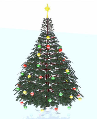 Picture of Artificial Christmas Tree Model Poser Format