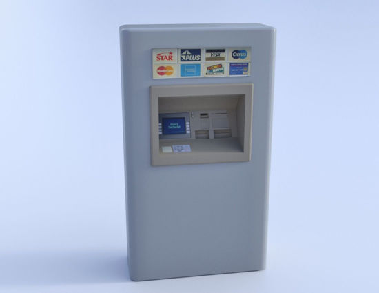 Picture of ATM Cash Machine Model Poser Format
