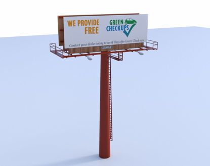 Picture of Billboard Sign Model Poser Format