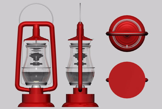 Picture of Oil Lantern Model FBX Format