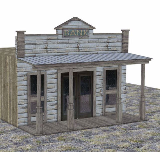 Picture of Old West Bank Building Model FBX Format