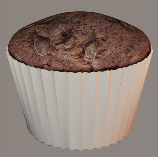 Picture of Chocolate Muffin Model Poser Format