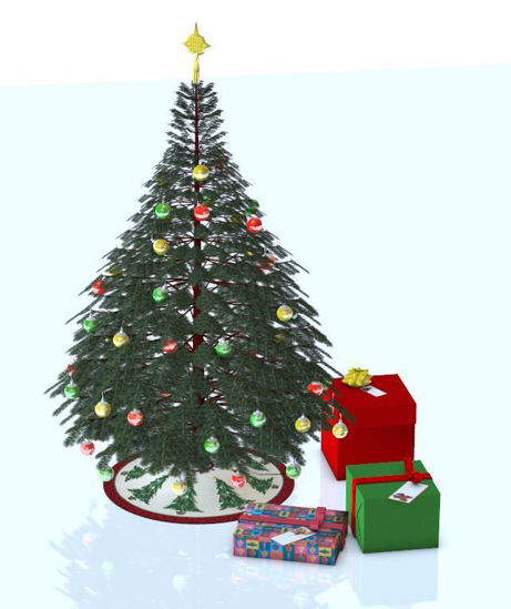 Picture of Christmas Tree Add-on Model Set 1 Poser Format