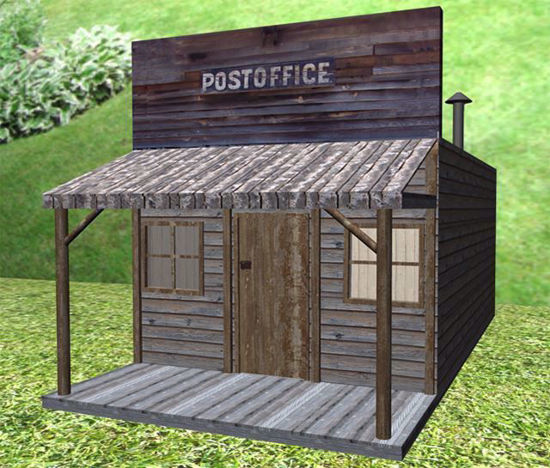 Picture of Old West Post Office Model Poser Format