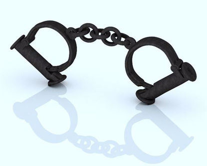 Picture of Old West Sheriff's Handcuffs Model Poser Format