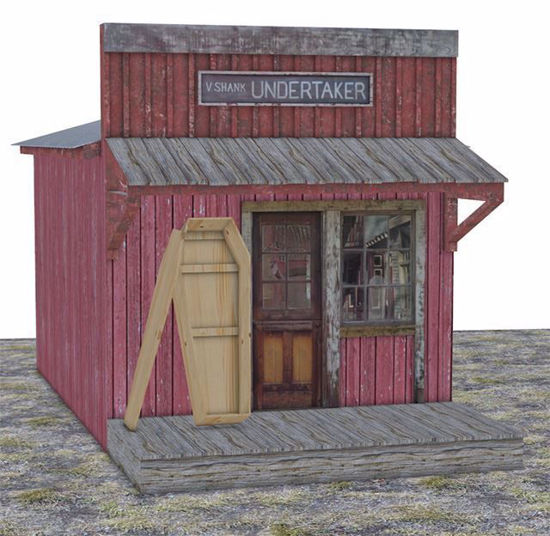 Picture of Old West Undertakers Building Model Poser Format