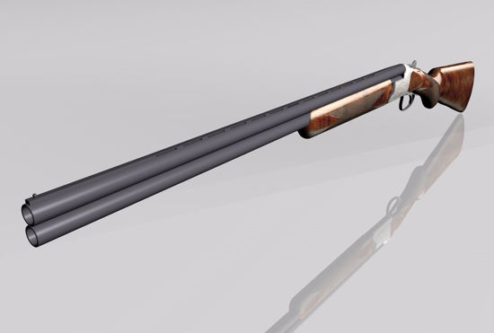 Picture of Over Under Shotgun Weapon Model FBX Format