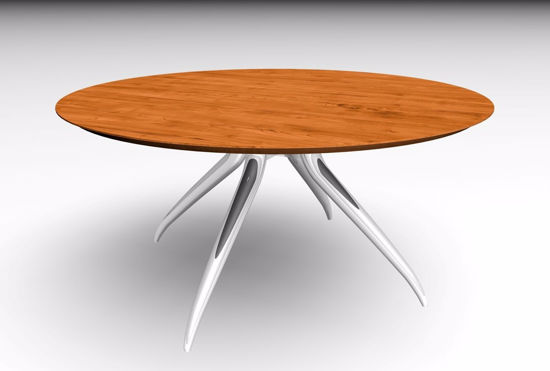 Picture of Contemporary Wood and Metal Table Poser Format