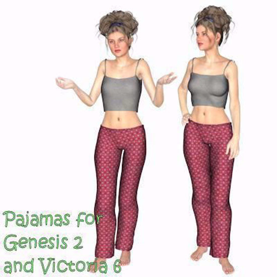 Picture of Pajamas for DAZ Genesis 2 and DAZ Victoria 6