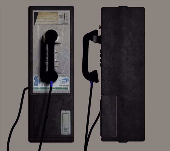 Picture of Pay Phone Model Poser Format