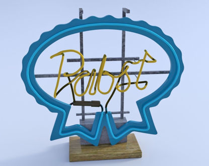 Picture of PBR Neon Beer Sign Model FBX Format
