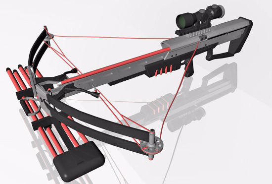 Picture of Crossbow Weapon Model FBX Format