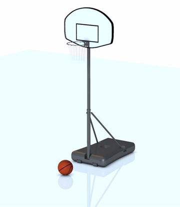 Picture of Portable Basketball Goal and Basketball Models Poser Format