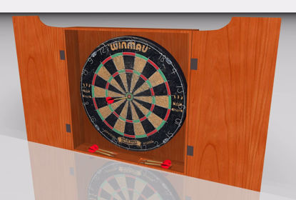 Picture of Dart Board and Darts Models FBX Format