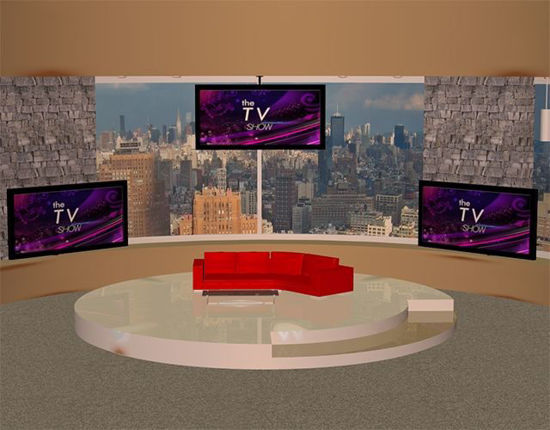 Picture of Daytime TV Talk Show Studio Scene Poser Format