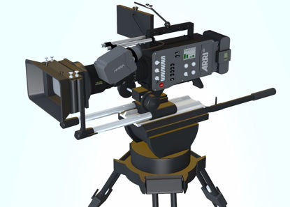 Picture of Professional Movie Camera and Tripod Models FBX Format