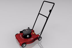 Push Lawnmower Model FBX Format