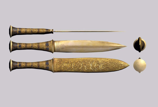 Picture of Egyptian Dagger Weapon Model FBX Format