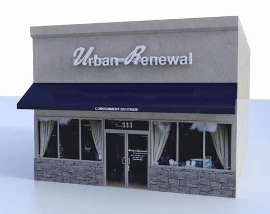 Picture of Retail Store Building Model FBX Format
