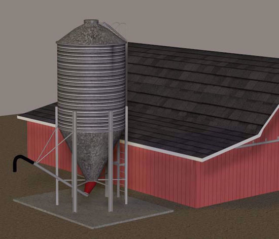 Picture of Farm Grain Storage Silo Model Poser Format