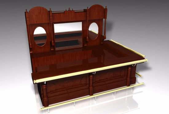 Picture of Saloon Bar and Back Furniture Model FBX Format