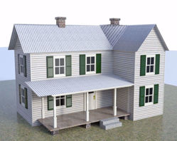 Farmhouse Building Model FBX Format