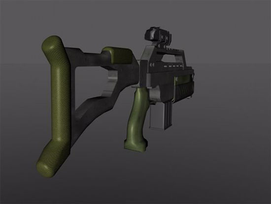 Picture of Sci-Fi Assault Rifle Model Poser Format