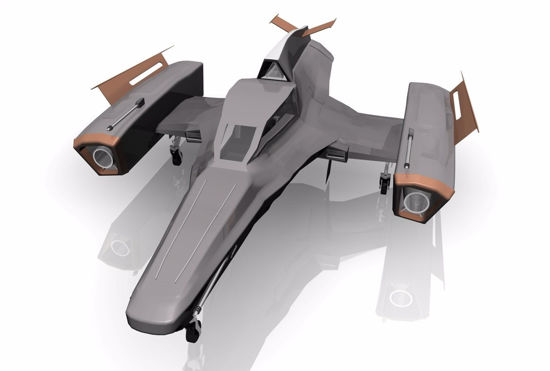 Picture of Sci-Fi Futura Fighter Model FBX Format