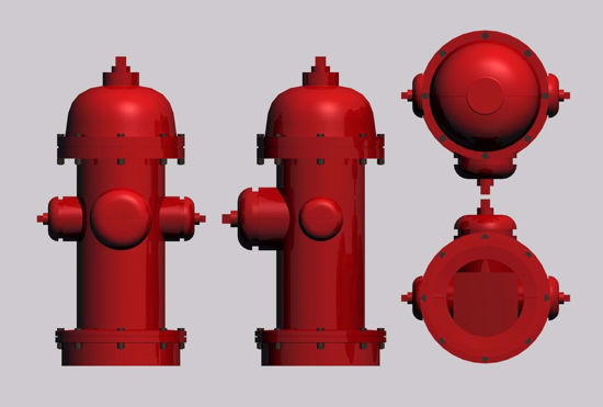 Picture of Fire Hydrant Model FBX Format