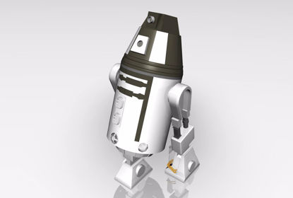 Picture of Sci-Fi Personal Droid Model FBX Format
