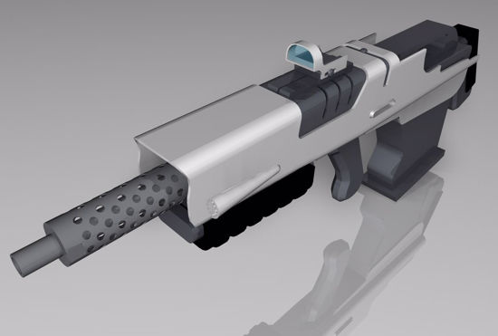 Picture of Sci-Fi Rifle Model 2 Poser Format