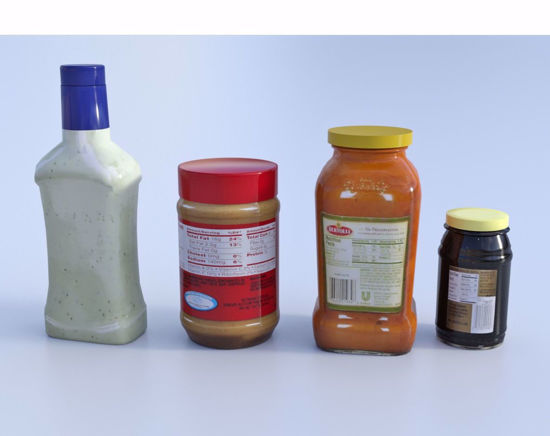 Picture of Food Container Models Set 2 Poser Format