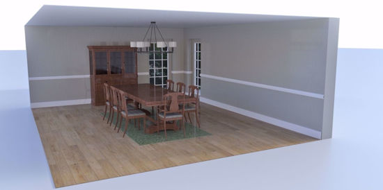 Picture of Formal Dining Room Environment FBX Format