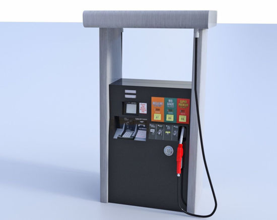 Picture of Gas Station Fuel Pump Model Poser Format