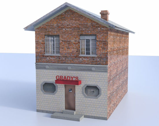 Picture of Small Town Bar Building Model Poser Format
