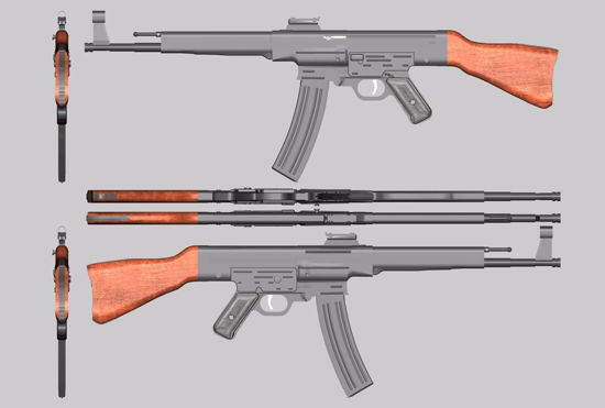 Picture of Sturmgewehr G44 Assault Rifle Weapon Model FBX Format