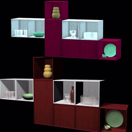 Picture of Swedish Lounge Wall Unit Model Poser Format