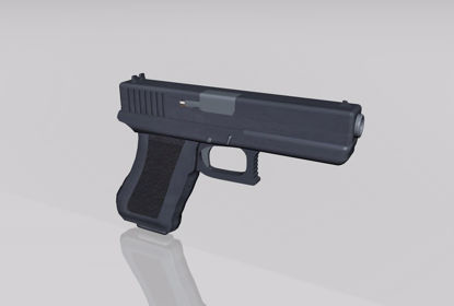 Picture of Glock 40 Pistol Weapon Model FBX Format