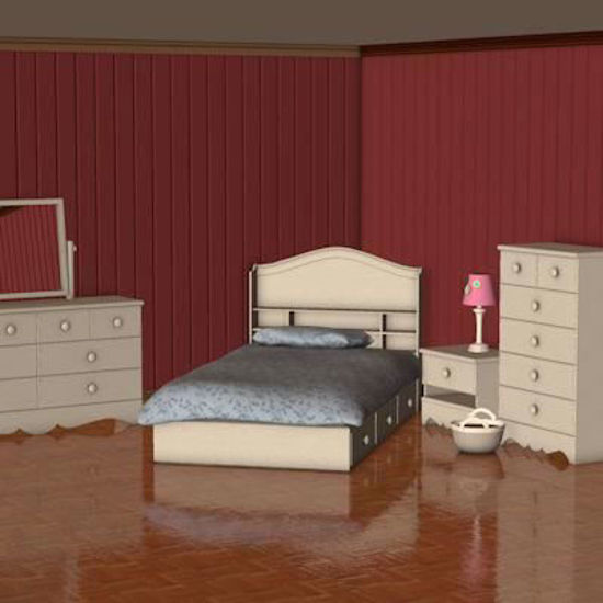 Picture of Teen Bedroom Model Poser Format