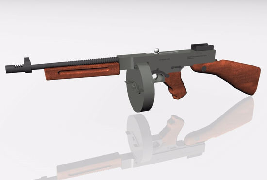 Picture of Thomspon Submachine Gun Model FBX Format