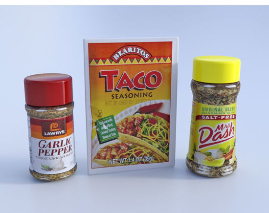 Picture of Three Seasoning Condiment Models Poser Format
