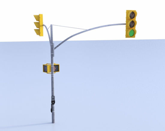 Picture of Traffic Light and Crossing Sign Models FBX Format