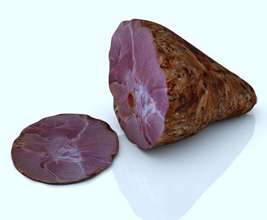 Picture of Holiday Ham and Slice Models Poser Format