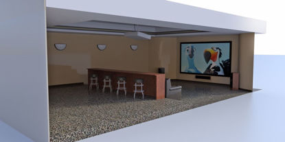 Picture of Home Theater Room Environment Poser Format