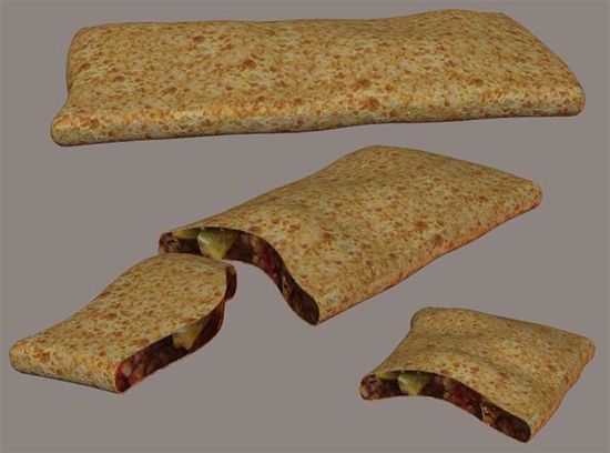 Picture of Hot Pocket Sandwich Model Poser Format
