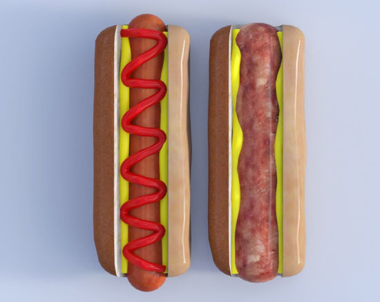 Picture of Hotdog and Bratwurst Models Poser Format