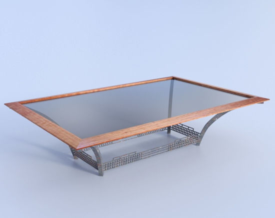 Picture of Industrial Coffee Table Furniture Model Poser Format
